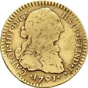 1 Escudo - Carlos IV (bust of Carlos III, CAROL IIII) – obverse