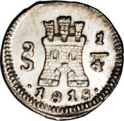 ¼ Real - Fernando VII (Colonial Milled Coinage) – reverse