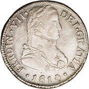 2 Reales - Fernando VII (imaginary bust) – obverse