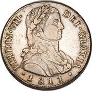 8 Reales - Fernando VII (imaginary laureate bust) – obverse