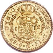 1 Escudo - Fernando VII (bust of Carlos IV) – reverse
