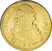 4 Escudos - Fernando VII (bust of Carlos IV) – obverse