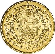 4 Escudos - Fernando VII (bust of Carlos IV) – reverse