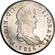 8 Reales - Fernando VII (bust of Fernando VII) – obverse