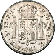 8 Reales - Fernando VII (bust of Fernando VII) – reverse