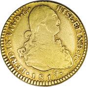 2 Escudos - Fernando VII (bust of Carlos IV) – obverse