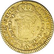 2 Escudos - Fernando VII (bust of Carlos IV) – reverse