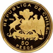 50 Pesos (150th Anniversary of Military Academy) – reverse