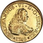 4 Escudos - Fernando VI – obverse