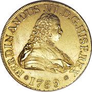 8 Escudos - Fernando VI (first bust of Fernando VI, Regular Fleece) – obverse