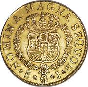 8 Escudos - Fernando VI (first bust of Fernando VI, Regular Fleece) – reverse