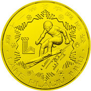 1 Yuan (Alpine Skiing; Piedfort) – reverse
