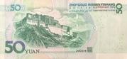 50 Yuan (Mao Zedong; Potala Palace in Tibet) – reverse