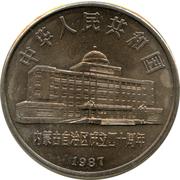 1 Yuan (Inner Mongolia Autonomous Region) – obverse