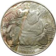 2 oz Silver (Chinese Panda Commemoration) – reverse