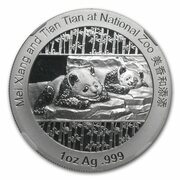 1 oz Silver (Silver Panda - Smithsonian Institution) – reverse