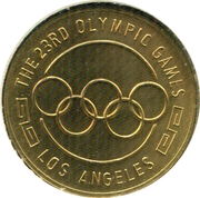 Token - XXIII Olympics Games Los Angeles – reverse