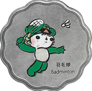 Token - Mascots of the Games of the XXIX Olympiad (Nini - Badminton/Fencing) – obverse