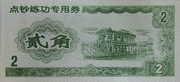 2 Jiao · Teller Practice Banknote · Agricultural Bank of China (Peoples Republic of China) – obverse