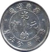 3.6 Candareens - Guangxu (Guangdong, 2nd type) – obverse