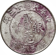 2 Jiao / 20 Cents – obverse