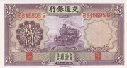 1 Yuan (Bank of Communications) – reverse