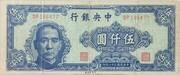 5,000 Yuan – obverse