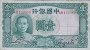 One Yuan (Bank of China) -  obverse