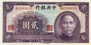 2 Yuan (Central Bank of China) – obverse
