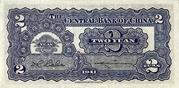 2 Yuan (Central Bank of China) – reverse