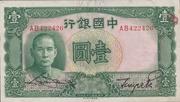 1 Yuan (Bank of China) -  obverse