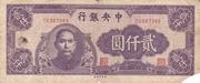 2000 Yuan – obverse