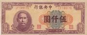 5000 Yuan (Central Bank of China) – obverse