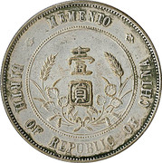 Token - Memento Birth of Republic of China – reverse