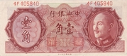 10 Cents (The Central Bank of China) – obverse