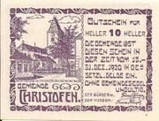 10 Heller (Christofen) – obverse