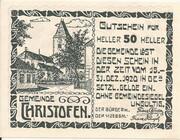 50 Heller (Christofen) – obverse