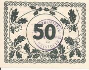 50 Heller (Christofen) – reverse