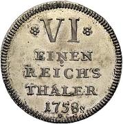 ⅙ Thaler - Johann Anton – reverse
