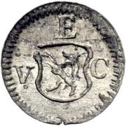 1 Pfennig - Ulrich VII – obverse