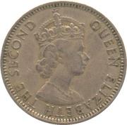 50 Mils - Elizabeth II (1st portrait) -  obverse