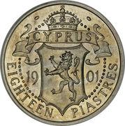 18 Piastres - Victoria -  reverse