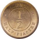 ½ Piastre - Victoria – reverse