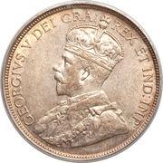 18 Piastres - George V – obverse