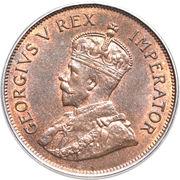1 Piastre - George V – obverse