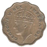 ½ Piastre - George VI – obverse