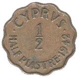 ½ Piastre - George VI -  reverse