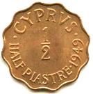 ½ Piastre - George VI – reverse