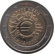 2 Euro (10 Years of Euro Cash) – obverse