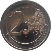 2 Euro (10 Years of Euro Cash) – reverse